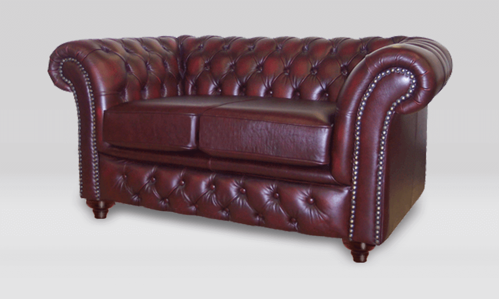 70b6b0697551 ... Chesterfield 2 Seater - Antique Rust Leather - 2 Seat Cushion ...