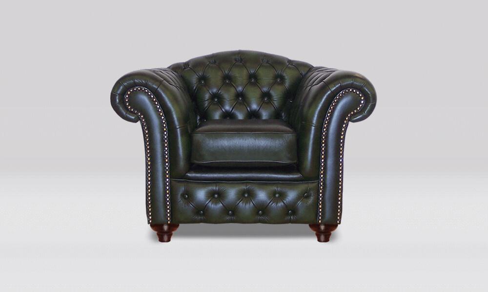 Chesterfield Club Chair - Antique Green