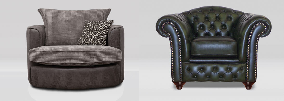 Chesterfield designs to ultra modern cuddle chairs
