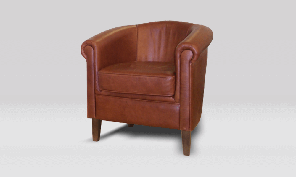 Celtic Tub Chair - Old English Bruciato
