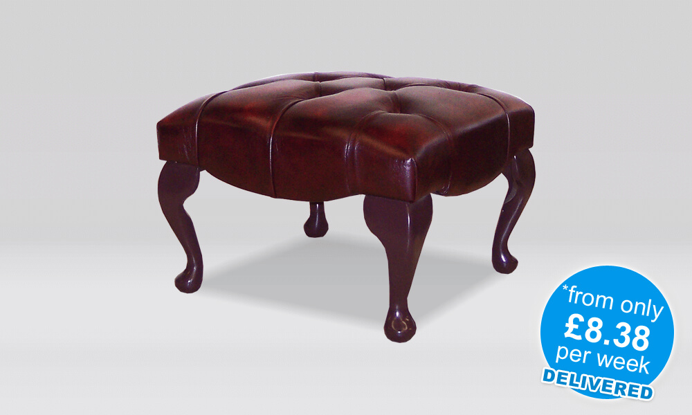 Chesterfield Stool - Antique Oxblood