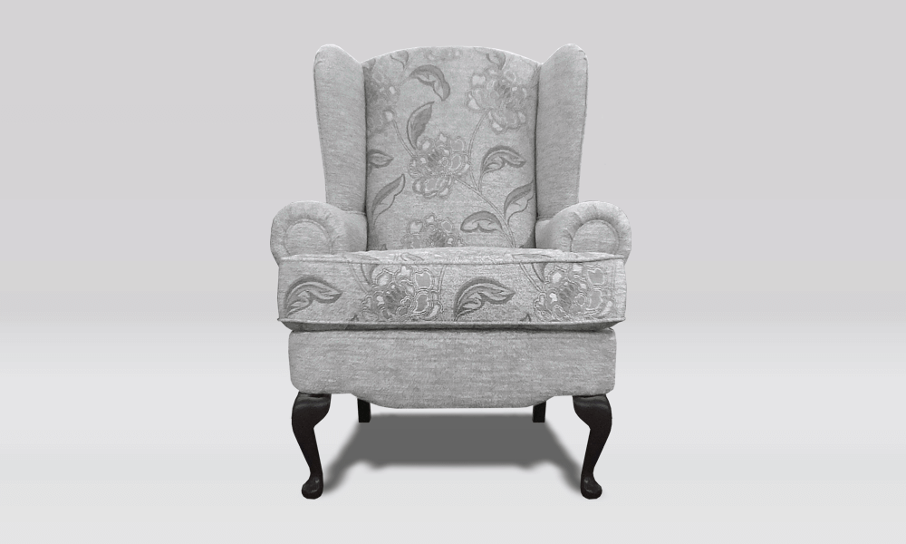 Cotswold Chair - Floral/Plain Grey