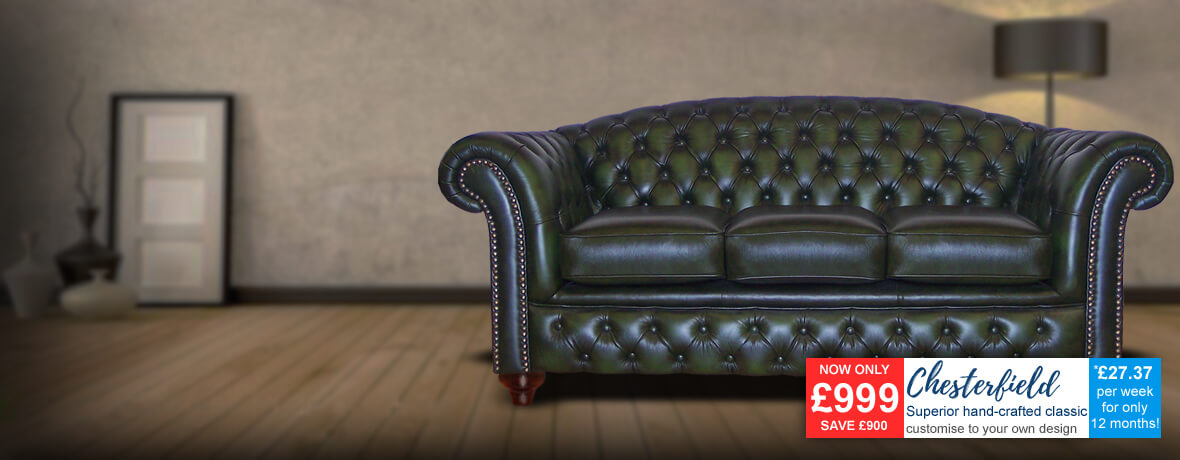 Chesterfield 3 Seater Sofa 2 Seater Sofa & Chairs