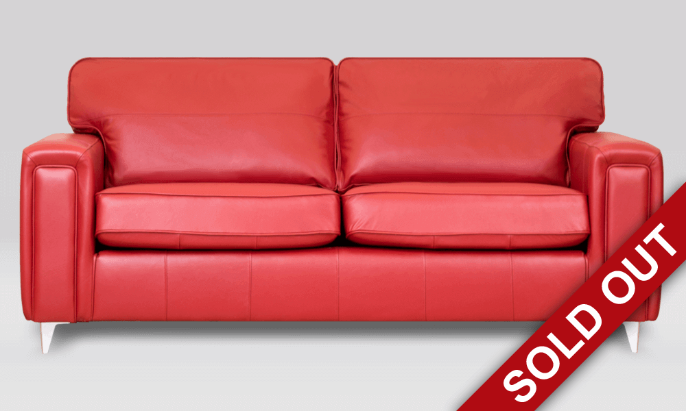 Geneva 3 Seater Leather Sofa