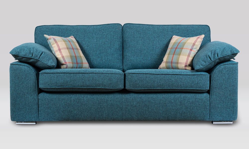 Josie 3 Seater Sofa in Quality Teal fabric