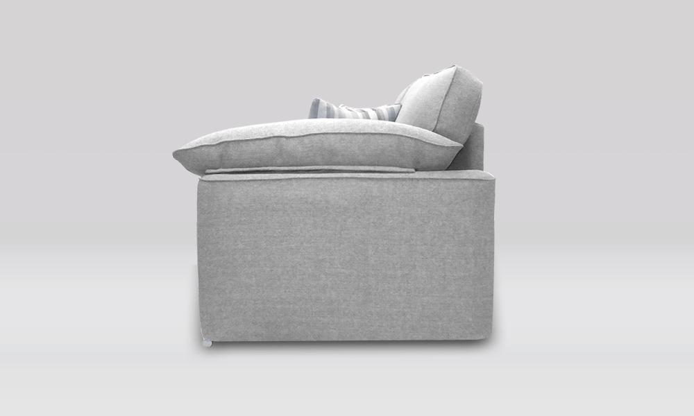 Josie 3 Seater Sofa in Silver