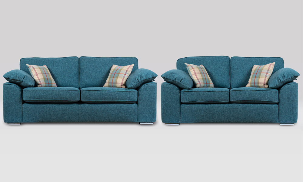 Josie 2 Piece Suite in Quality Teal fabric
