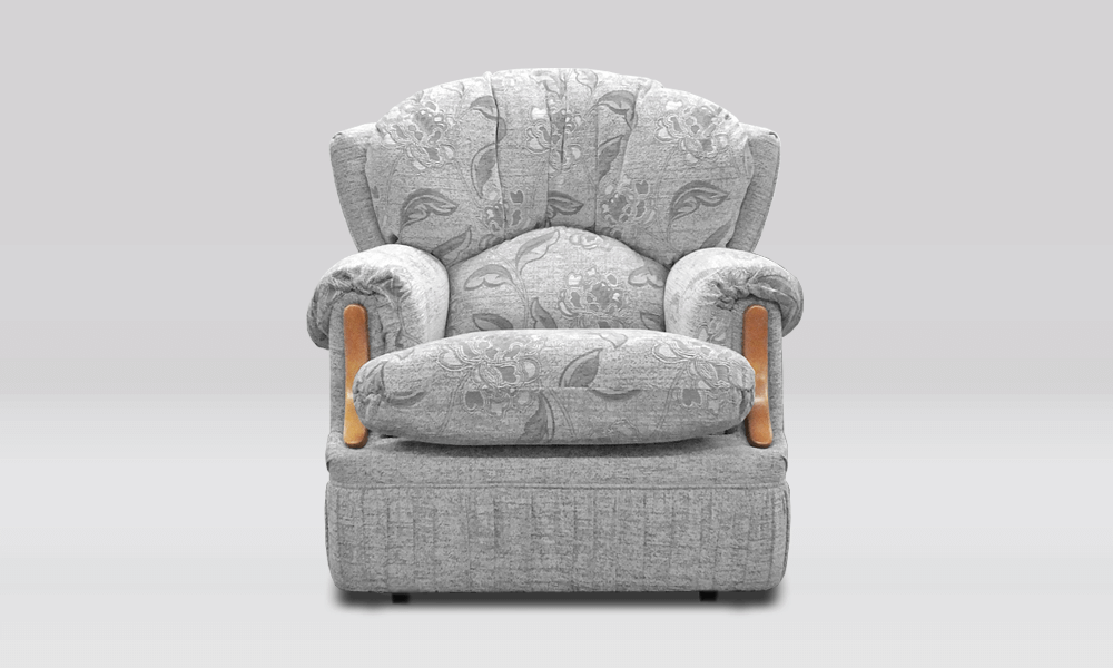 Oxford Chair - Plain/Floral Grey