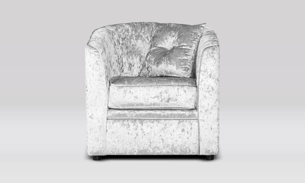 Tub Chair - Shimmer Silver
