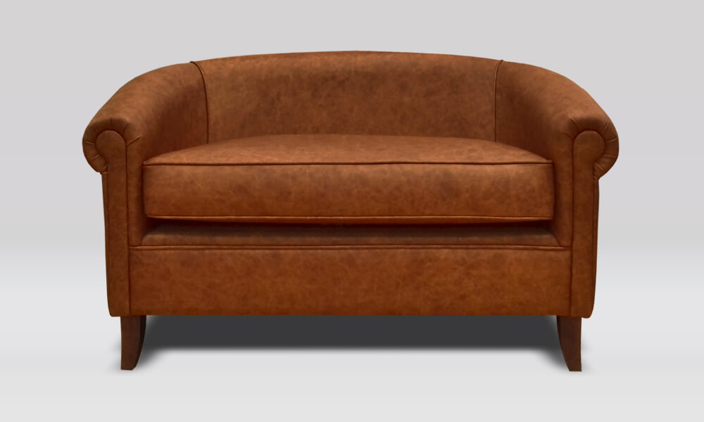 Balmoral 2 Seater Tub Sofa - Saloon Whisky Leather